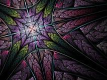 фракталь абстракции перекрестная Стоковая Фотография