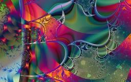 Фракталь: Богатство красок и формы иллюстрация штока