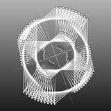 фракталь геометрическая Геометрическая цель Стоковое фото RF