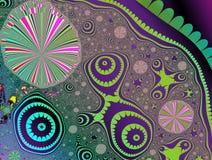 Фракталь: День на пляже иллюстрация вектора