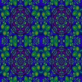 Фракталь: Деталь и картины в сини и зеленом цвете бесплатная иллюстрация