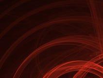 фракталь закрепляет петлей красный цвет Стоковая Фотография