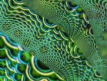 Фракталь: Звенья цепи зеленого цвета и Teal иллюстрация штока