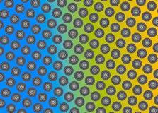 Фракталь: Красочные круги на ровной предпосылке градиента иллюстрация штока