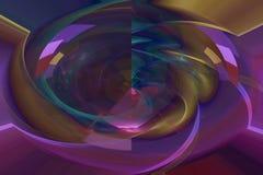 Фракталь настоящего верхнего слоя футуристическая современная живая, космос, предпосылка, энергия, конспект, дизайн, иллюстрация иллюстрация штока