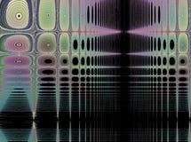 Фракталь: Отпечатки пальцев в гобелене иллюстрация вектора