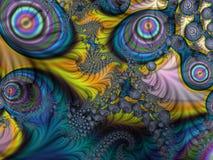 Фракталь: Ровный и сложный в более темных цветах иллюстрация вектора