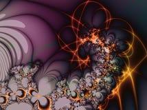 Фракталь: Фейерверки и цветки бесплатная иллюстрация