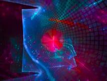 Фракталь футуристическая, дизайн конспекта цифров графика обоев фона красивый, фантазия, праздничная стоковое изображение