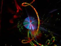 Фракталь футуристическая, дизайн конспекта цифров современной текстуры графический красивый, фантазия, праздничная стоковое фото