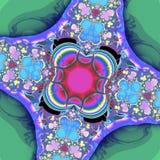 Фракталь: Цветки и яркие цвета стоковое фото