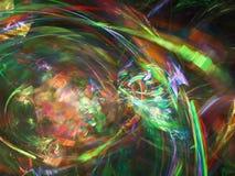 Фракталь цифров абстрактная, дизайн графической текстуры красивый, фантазия картины, праздничная стоковые фото