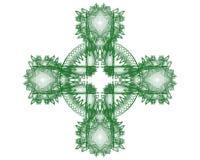 фракталь i кельтского креста Стоковое фото RF