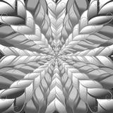 Фракталь абстрактной предпосылки вектора черно-белая Стоковая Фотография RF