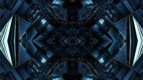 Фракталь 4 делает абстрактный геометрический перевод composition-3d Стоковые Изображения RF