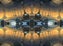 Фракталь 4 делает абстрактный геометрический перевод composition-3d Стоковое Фото