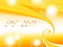 Фракталь желтого цвета, апельсина и белых сияющая основала PF 2017 Стоковые Фото