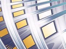 Фракталь при изогнутые линии походя стилизованное здание Стоковое Фото