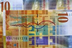 франки швейцарские Стоковые Фото