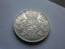 5 франков Бельгии Стоковое Изображение