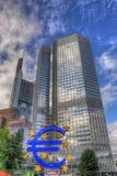 ФРАНКФУРТ, ГЕРМАНИЯ - 12-ОЕ ИЮЛЯ: Европейский Центральный Банк в Франкфурте Стоковое Изображение