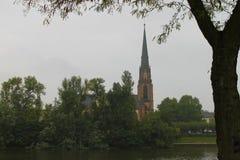 Франкфурт на городе основы Стоковые Фотографии RF