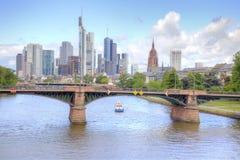 Франкфурт-на-Майне, городской пейзаж Стоковые Изображения RF