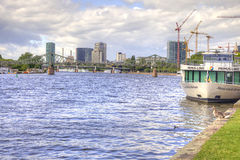 Франкфурт-на-Майне, городской пейзаж Стоковое Изображение