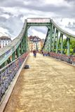 Франкфурт-на-Майне мост над рекой Стоковое Изображение