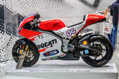 ФРАНКФУРТ - SEPT. 2015: Presente 1299 Suberbike Ducati Panigale r Стоковое фото RF
