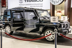 ФРАНКФУРТ - SEPT. 2015: Trasco наградное SUV Мерседес стоковая фотография rf