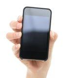 Франтовская рука телефона/мобильного телефона стоковая фотография