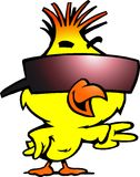 Франтовской цыпленок с холодными sunglass Стоковое Изображение RF
