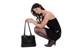 Франтовск одетьнная женщина стоковые изображения rf