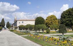 Францисканские церковь и монастырь Cimiez Франция славная Стоковые Фото