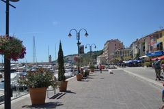 Франция В порте Cassis стоковое фото rf