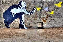 Франция, граффити свободы стоковые фотографии rf