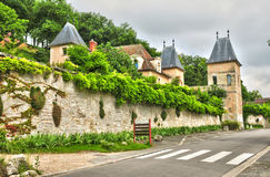 Франция, живописная деревня Medan Стоковое фото RF