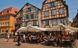 Франция, живописный город Кольмара в Haut Rhin Стоковое фото RF
