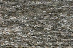 Франция, конец вверх lauze на крыше Стоковые Фотографии RF