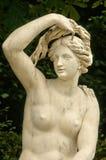 Франция, мраморная статуя в парке дворца Версаль Стоковая Фотография RF