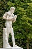 Франция, мраморная статуя в парке дворца Версаль Стоковое Изображение