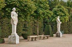 Франция, мраморная статуя в парке дворца Версаль Стоковое фото RF