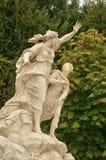 Франция, мраморная статуя в парке дворца Версаль Стоковое Изображение RF