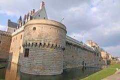 Франция, Нант, des Ducs de Бретань замка Стоковая Фотография RF