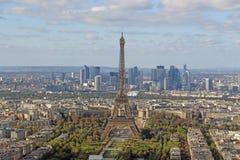 Франция, Париж, взгляд Эйфелева башни от высоты стоковая фотография rf