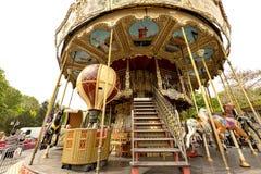 Франция, Париж, 2019 до 04, Carousel веселый идут круг Trocadero стоковое изображение