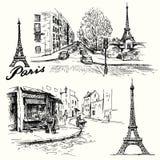 Франция, Париж - Эйфелева башня иллюстрация штока