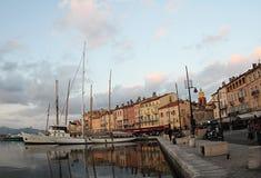 Франция, порт St Tropez стоковое изображение rf