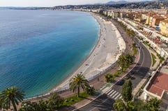 Франция Провансаль Коут Azur променад des anglais славное A стоковое изображение rf